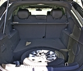 Trunk space in a Lincoln town car from Echo Limousine in Chicago, IL