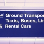 Midway Airport Limo & Taxi Signage