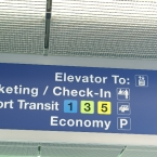O'Hare Airport checkin sign