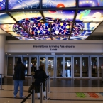 Entrance for international arrivals at O'Hare Airport in Chicago, IL