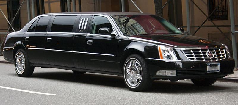a black Cadillac limo