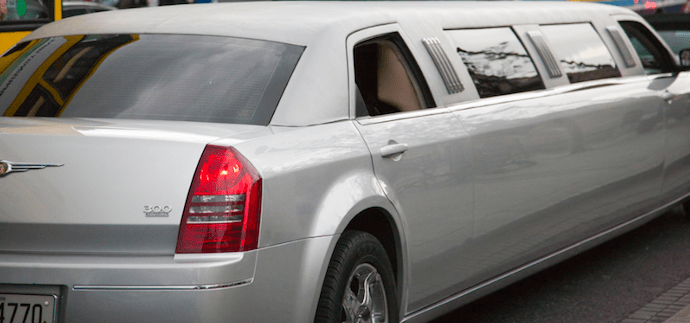 Image of a gray limousine, driven by Echo Limousine in Chicago, IL