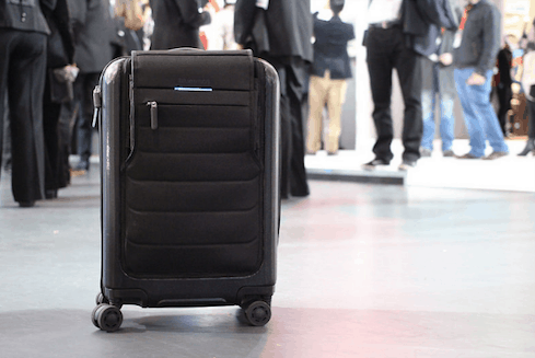 Image of a rolling suitcase, recommended for business travelers by Echo Limousine in Chicago, IL